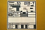 """DWM 13284 - DB AG """"53 0119-7"""" 19.01.2000 - Frankfurt (Main)Mathias Bootz"""
