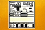 "Robel 54.13-5-RW 24 - DB AG ""53 0493-6"" 11.09.1994 - BiblisMathias Bootz"